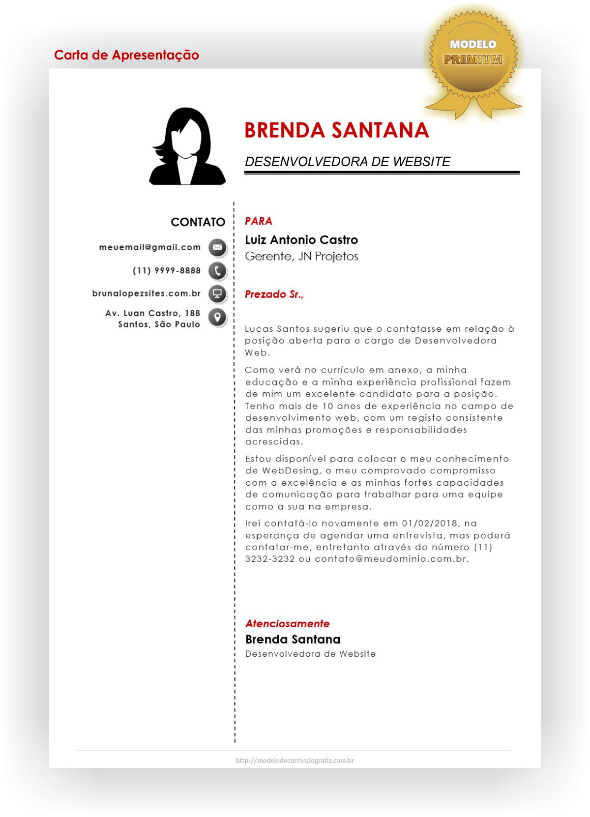 Modelo De Curriculo Pronto Moderno Senai Formato Doc Modelo De